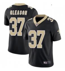 Youth New Orleans Saints 37 Steve Gleason Black Vapor Limited Jersey