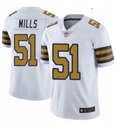 Youth New Orleans Saints 51 Sam Mills Color Rush Limited Jersey