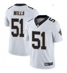 Youth New Orleans Saints 51 Sam Mills White Vapor Untouchable Limited Jersey