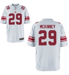Men Giants 29 McKinney White Game Stitched NFL Jersey