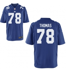 Men Giants 78 Thomas Blue Game Stitched NFL Jersey