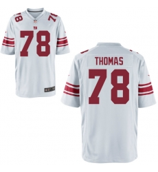 Men Giants 78 Thomas White Game Stitched NFL Jersey