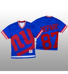 NFL New York Giants 87 Sterling Shepard Blue Men Mitchell  26 Nell Big Face Fashion Limited NFL Jersey
