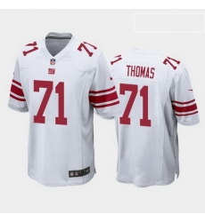 men andrew thomas new york giants white game jersey 2020