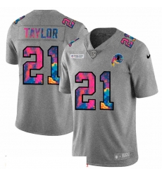Men Washington Redskins 21 Sean Taylor Men Nike Multi Color 2020 NFL Crucial Catch NFL Jersey Greyheather