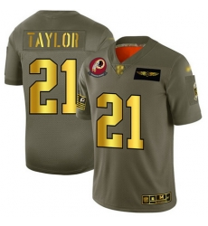Redskins 21 Sean Taylor Camo Gold Men Stitched Football Limited 2019 Salute To Service Jersey