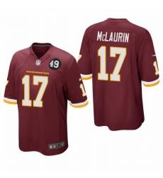 Washington Redskins 17 Terry McLaurin Men Nike Burgundy Bobby Mitchell Uniform Patch NFL Game Jersey