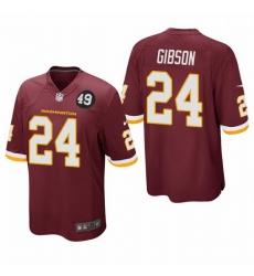 Washington Redskins 24 Antonio Gibson Men Nike Burgundy Bobby Mitchell Uniform Patch NFL Game Jersey