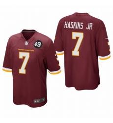 Washington Redskins 7 Dwayne Haskins Jr Men Nike Burgundy Bobby Mitchell Uniform Patch NFL Game Jersey