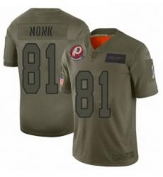 Womens Washington Redskins 81 Art Monk Limited Camo 2019 Salute to Service Football Jersey