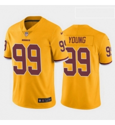 Youth Washington Redskins 99 Chase Young Color Rush Limited Jersey Gold
