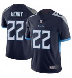 Men Tennessee Titans 22 Derrick Henry Navy Vapor Untouchable Limited Jersey