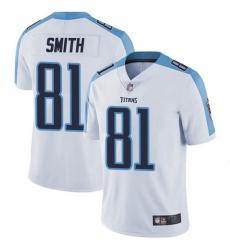 Men Tennessee Titans 81 Jonnu Smith White Vapor Limited Jersey