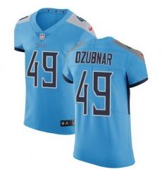 Nike Titans 49 Nick Dzubnar Light Blue Alternate Men Stitched NFL New Elite Jersey