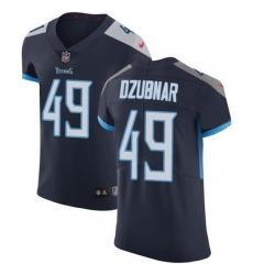 Nike Titans 49 Nick Dzubnar Navy Blue Team Color Men Stitched NFL Vapor Untouchable Elite Jersey