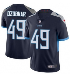 Nike Titans 49 Nick Dzubnar Navy Blue Team Color Men Stitched NFL Vapor Untouchable Limited Jersey