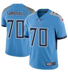 Nike Titans 70 Ty Sambrailo Light Blue Alternate Men Stitched NFL Vapor Untouchable Limited Jersey