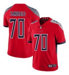 Nike Titans 70 Ty Sambrailo Red Men Stitched NFL Limited Inverted Legend Jersey