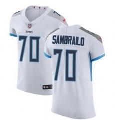 Nike Titans 70 Ty Sambrailo White Men Stitched NFL New Elite Jersey