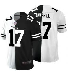 Tennessee Titans 17 Ryan Tannehill Men Black V White Peace Split Nike Vapor Untouchable Limited NFL Jersey