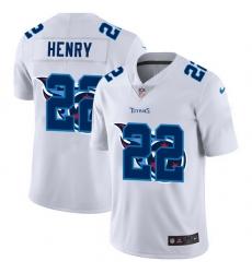 Tennessee Titans 22 Derrick Henry White Men Nike Team Logo Dual Overlap Limited NFL Jersey