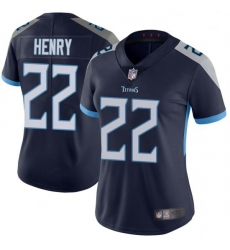 Women Tennessee Titans 22 Derrick Henry Blue Vapor Untouchable Limited Jersey