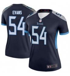 Women Tennessee Titans 54 Rashaan Evans Legend Navy Limited Jersey