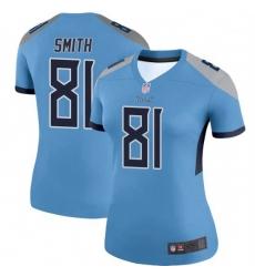 Women Tennessee Titans 81 Jonnu Smith Light Blue Legend Limited Jersey
