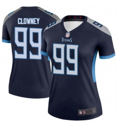 Women Tennessee Titans 99 Jadeveon Clowney Legend Navy Limited Jersey