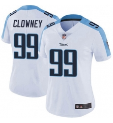 Women Tennessee Titans 99 Jadeveon Clowney White Vapor Limited Jersey
