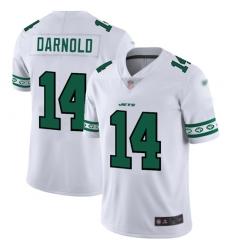 Jets 14 Sam Darnold White Men Stitched Football Limited Team Logo Fashion Jersey