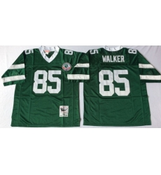 Men New York Jets 85 Wesley Walker Green M&N Throwback Jersey