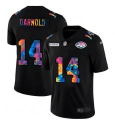 New York Jets 14 Sam Darnold Men Nike Multi Color Black 2020 NFL Crucial Catch Vapor Untouchable Limited Jersey