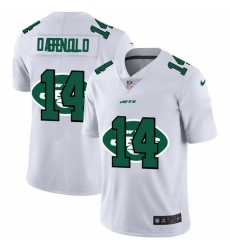 New York Jets 14 Sam Darnold White Men Nike Team Logo Dual Overlap Limited NFL Jersey