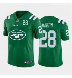 Nike Jets 28 Curtis Martin Green Team Big Logo Number Vapor Untouchable Limited Jersey