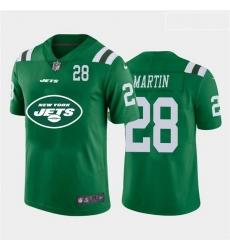 Nike Jets 28 Curtis Martin Green Team Big Logo Number Vapor Untouchable Limited Jersey
