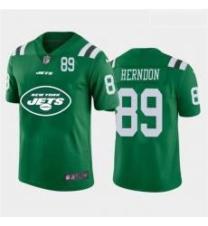 Nike Jets 89 Chris Herndon Green Team Big Logo Number Vapor Untouchable Limited Jersey