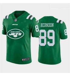 Nike Jets 89 Chris Herndon Green Team Big Logo Vapor Untouchable Limited Jersey