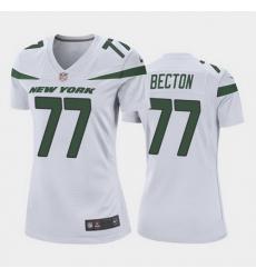 women mekhi becton new york jets white game jersey