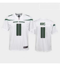 youth denzel mims new york jets white game jersey