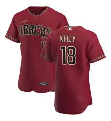 Men Arizona Diamondbacks 18 Carson Kelly Men Nike Crimson Flex Base Alternate Team MLB Jersey