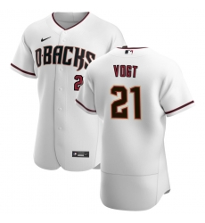 Men Arizona Diamondbacks 21 Stephen Vogt Men Nike White Crimson Flex Base Home Team MLB Jersey