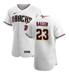 Men Arizona Diamondbacks 23 Zac Gallen Men Nike White Crimson Flex Base Home Team MLB Jersey
