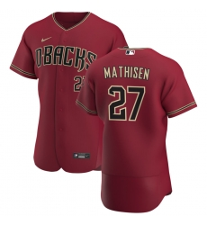 Men Arizona Diamondbacks 27 Wyatt Mathisen Men Nike Crimson Flex Base Alternate Team MLB Jersey