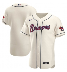 Men Atlanta Braves Men Nike Cream Alternate 2020 Flex Base Official MLB Team Jersey