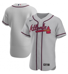 Men Atlanta Braves Men Nike Gray Road 2020 Flex Base Official MLB Team Jersey