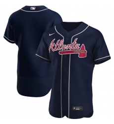 Men Atlanta Braves Men Nike Navy Alternate 2020 Flex Base Official MLB Team Jersey