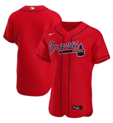 Men Atlanta Braves Men Nike Red Alternate 2020 Flex Base Official Team MLB Jersey