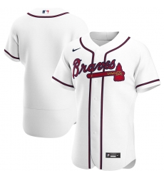 Men Atlanta Braves Men Nike White Home 2020 Flex Base Team MLB Jersey
