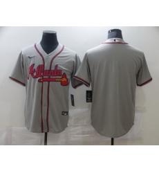 Men Nike Atlanta Braves grey Blank Coolbase Jersey